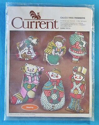 CURRENT CALICO TREE TRIMMERS 7117-5 , VINTAGE CHRISTMAS SEWING 1982 *NEW*