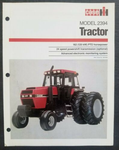 Case - IH Model 2394 Tractor Dealer Sales Spec Sheet Brochure
