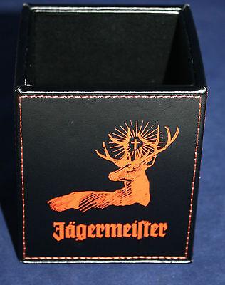 Jägermeister Kräuterlikör Stifte Halter Box Leder Imitat NEU OVP Kasten Kiste