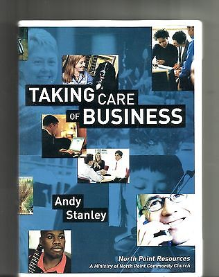 Andy Stanley Taking Care Of Business  2002  2 Sided Dvd   6 Sermons Christianity