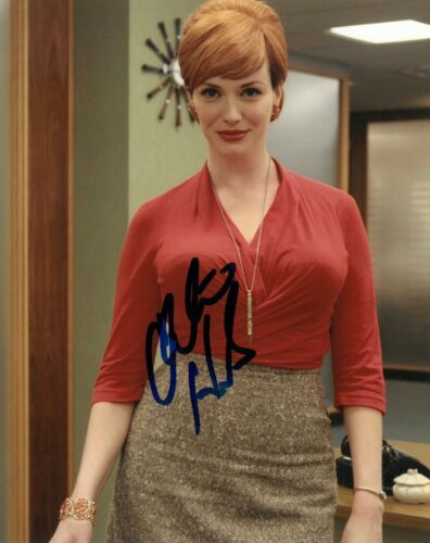CHRISTINA HENDRICKS SIGNED 8x10 PHOTO PROOF COA AUTOGRAPHED MAD MEN 3