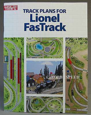 KALMBACH TRACK PLANS FOR LIONEL FASTRACK train layout O GAUGE design 108804 NEW ()