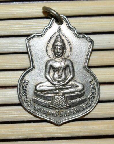 Vintage Thai Silver Colored Metal Buddhist Amulet / Pendant / Talisman