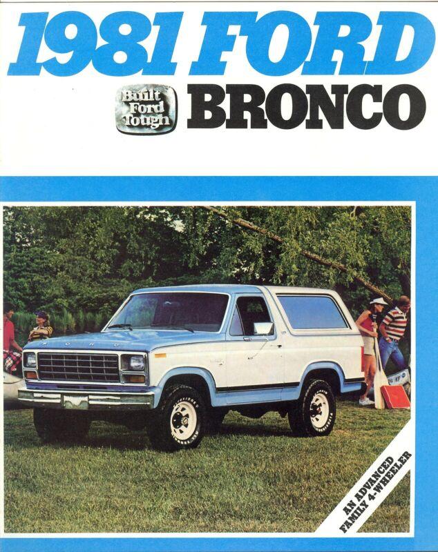 1981 Ford Bronco Ranger XLT Custom Vintage Sales Brochure