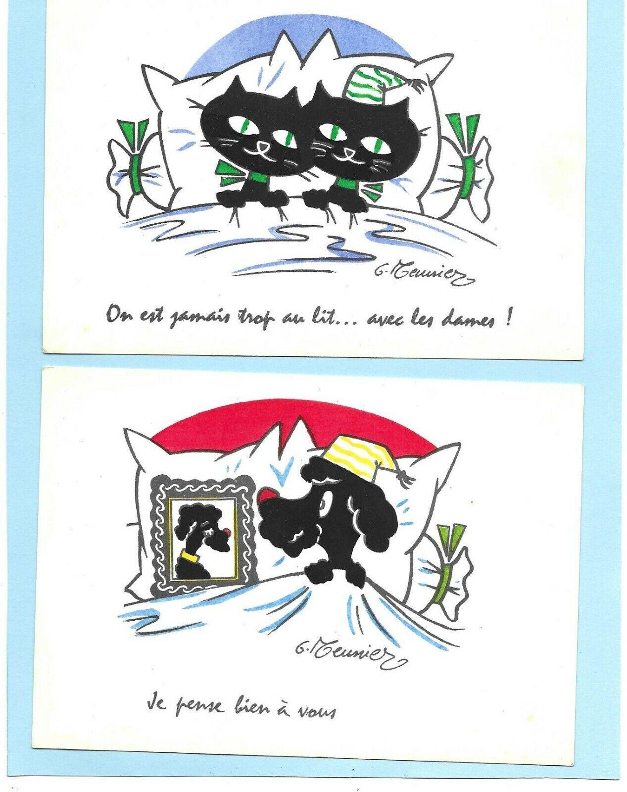 3 cpm dessin chats caniches illustrée par g.meunier