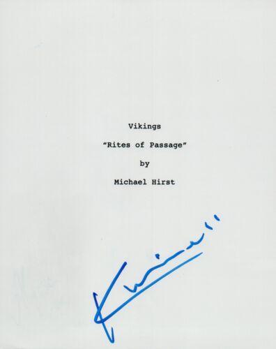 Katheryn Winnick Signed Autographed VIKINGS Pilot Episode Script COA VD