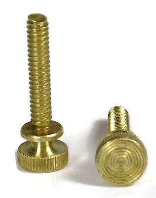Solid Brass Knurled Head Thumb Screw Machine Screws  8 32 X 1  Qty 25
