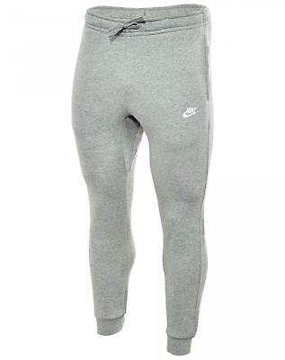 NIKE Mens Jogger Club Fleece Sweatpants Grey Heather/Dark Ob