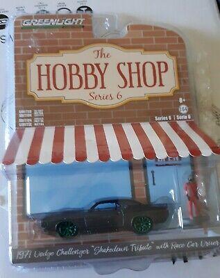 """1971 Dodge Challenger""""Green Machine"""" Chase HOBBY SHOP 6 GREENLIGHT 1:64 DIECAST"""