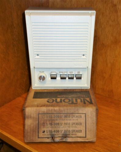 "NOS Nutone IS-409 5"" Outdoor Intercom Patio Speaker Adobe White for IM4006"