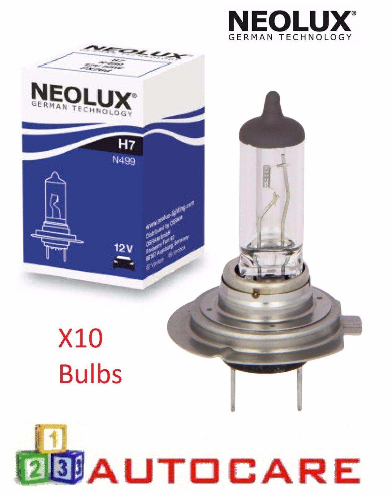 Neolux Standard N499 Car Headlight Headlamp Bulbs x2 H7 55W 12V 477//499 For BMW