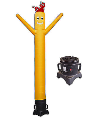 Air Dancer And Blower Complete Set 10ft Tube Man Inflatable Sky Dancer Yellow