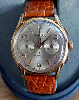 Vintage Benmore Chronograph Swisse 17 Jewels two register Landeron movement.