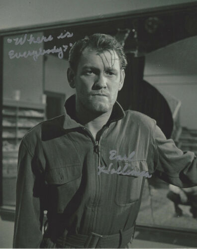 EARL HOLLIMAN SIGNED AUTHENTIC 'THE TWILIGHT ZONE' 8x10 PHOTO C w/COA TV ACTOR