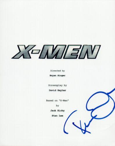 Famke Janssen Signed Autographed X-MEN Full Movie Script COA VD