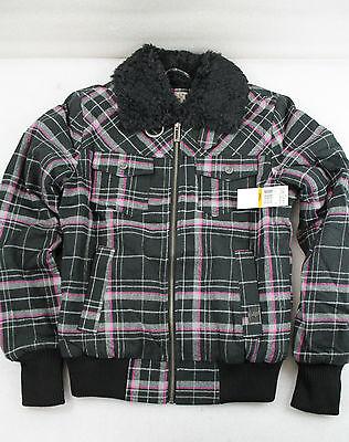 NEU! Fox Charlene Damen-Jacke 56021-001-003 schwarz mit Allover-Karo-Print, Gr S