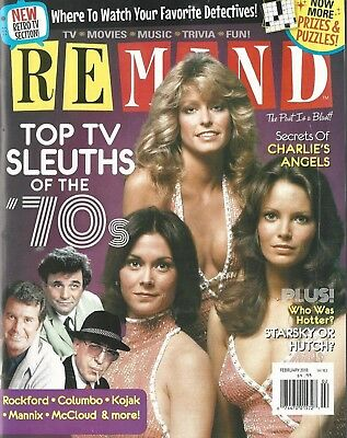 Remind Magazine February 2018 Top TV Sleuths of the '70s Charlies Angels NM