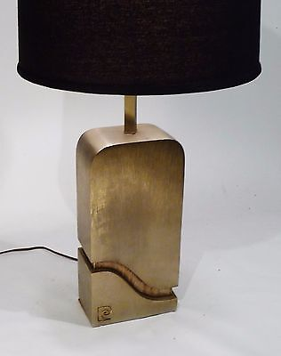 VINTAGE SIGNED PIERRE CARDIN TABLE LAMP LIGHT MID CENTURY MODERN FRENCH 70s