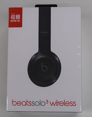 Beats by Dr. Dre Solo3 Wireless Headband Headphones - Gloss Black - Brand New