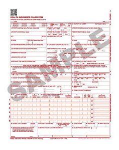 2500 LASER CMS-1500 (02-12) INSURANCE HCFA CLAIM FORMS