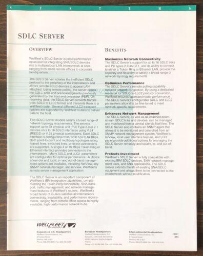 Wellfleet Communications - SDLC Server Sales Brochure (1993)