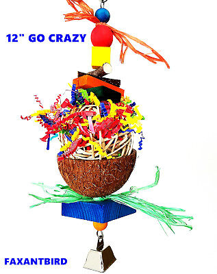 Bird Parrot Toy Cage Toys Go Crazy for cockatoo african grey mini macaw quaker