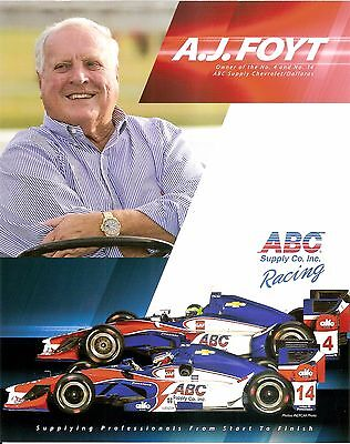 2017 AJ FOYT INDIANAPOLIS 500 HERO PHOTO CARD INDY CAR ABC SUPPLY CO INC RACING - Auto Racing Supplies