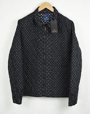 Pvp 203€ Scotch&Soda Hombre XL Kimono Estampado Azul Oscuro Chaqueta Guateada