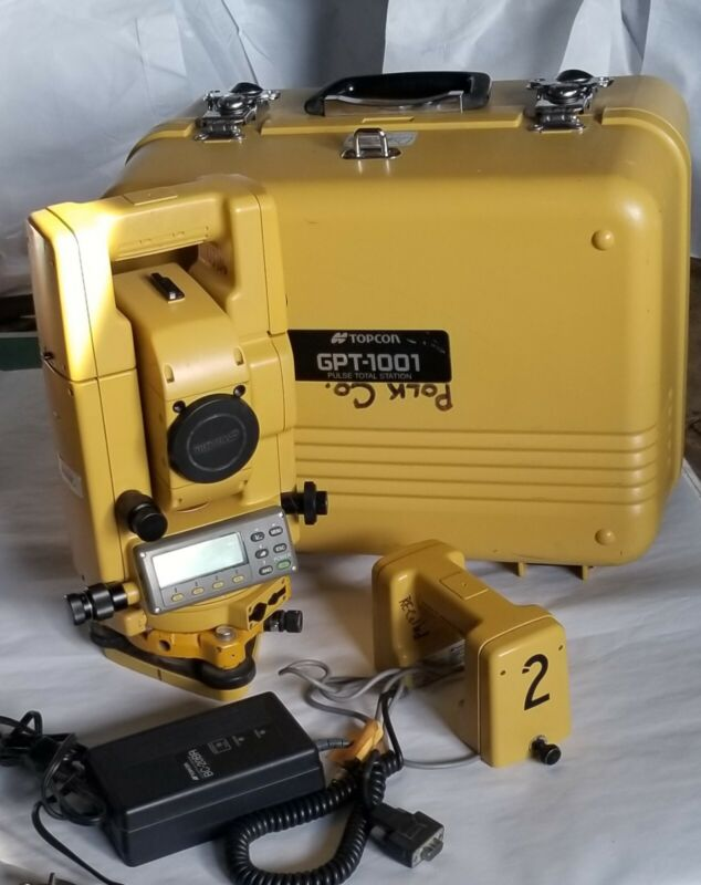 Topcon GPT-1001   Pulse Total Station w/Manual