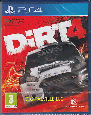 Dirt 4 PS4 Sony PlayStation 4 Brand New Factory Sealed Racing Game