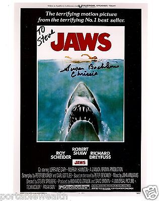 SUSAN BACKLINIE Hand Signed 8 x 10 Color Photo. Signed to Steve. Authentic Jaws