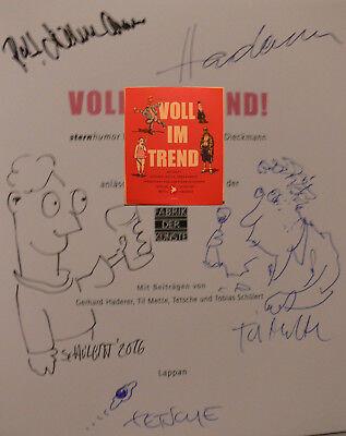 Haderer Mette Schülert Tetsche Original signiert signed autograph Signatur