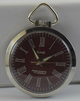 Vintage HMT 17Jewels Winding Pocket Watch For Unisex Use Working Good D-227-12