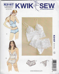 From UK Sewing Pattern Underwear Camisole & Panties #3167