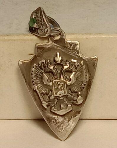 Rare Pendant Silver 88 Imperial Russia Double Headed Eagle