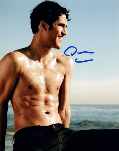 Darren Criss Signed Autographed 8x10 Photo Hot Shirtless Actor GLEE COA