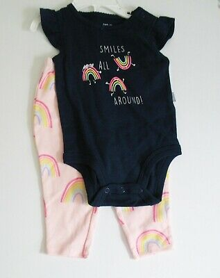 Carter/'s Baby Girl Pink 3D Kitten Terry Top /& Floral Legging 2pc Set NWT $24