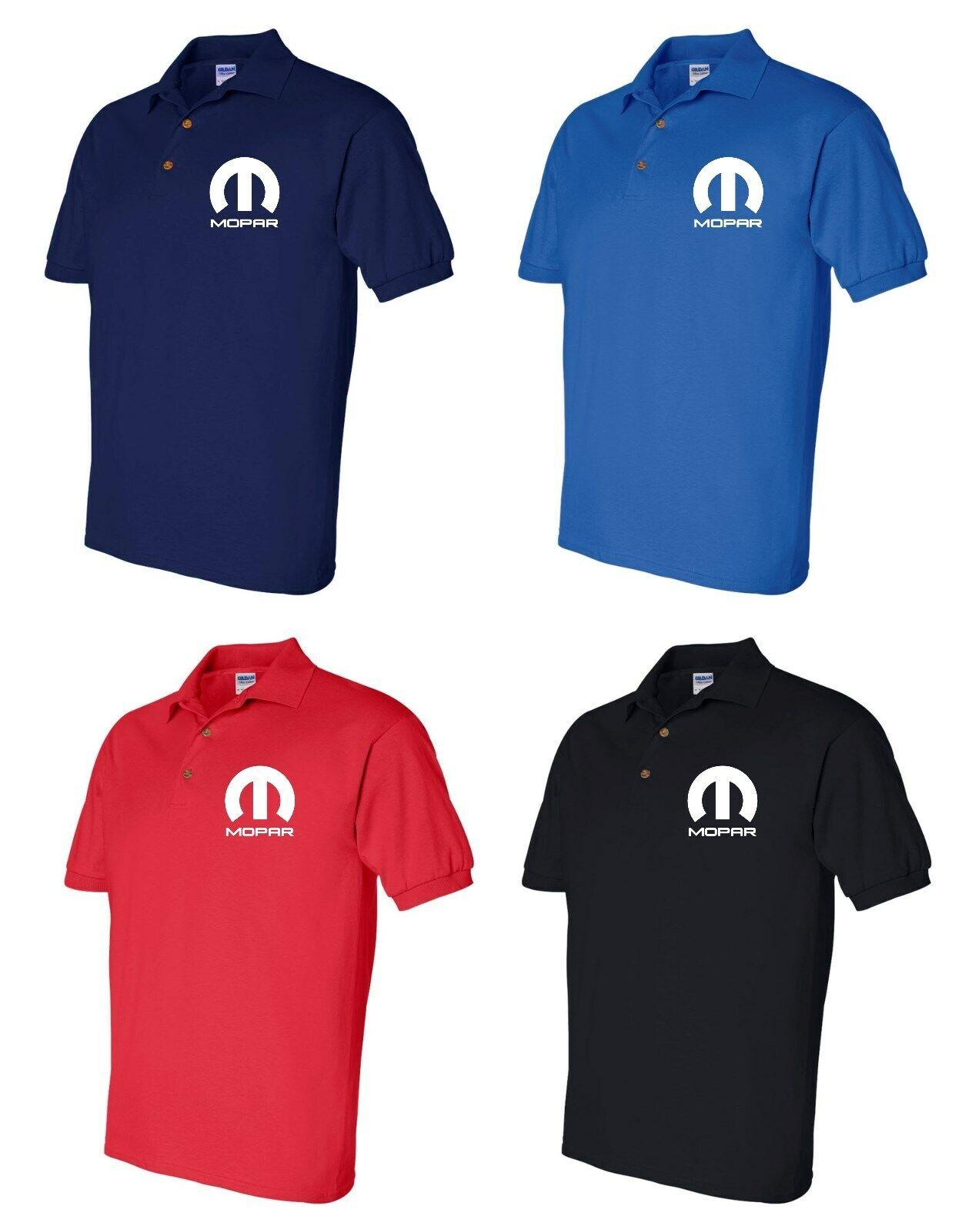 Mopar Polo Shirt Mens Adult Sizes S-5XL 4 Colors