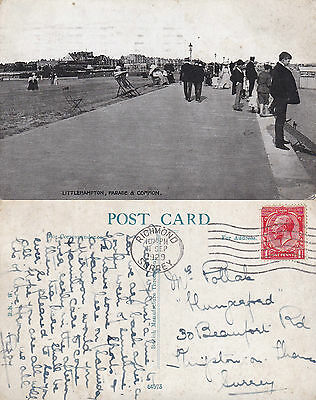 1929 THE PARADE AND COMMON LITTLEHAMPTON SUSSEX POSTCARD