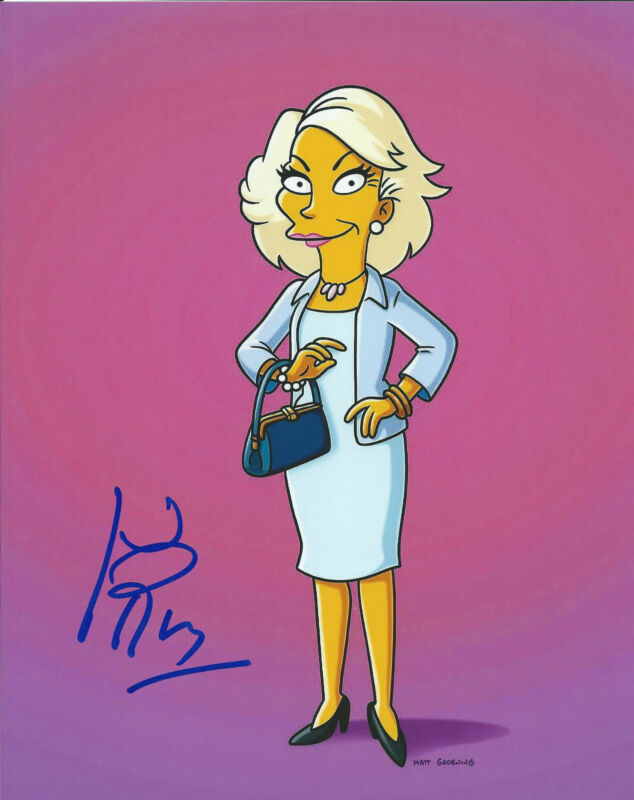 **GFA The Simpsons * JOAN RIVERS * Signed 8x10 Photo MH1 COA**