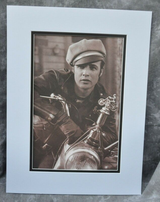 "Marlon Brando Double-Matted Heavy Stock Photo Display 12"" x 16"" ""The Wild One"""