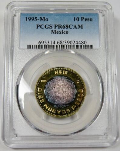 1995-Mo PCGS PR68DCAM PROOF 10 Peso Mexico Coin #25285A