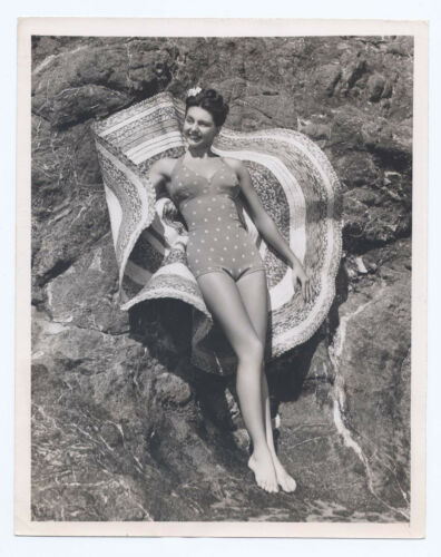Cyd Charise 1945 Bathing Suit Original 7x9 Cheesecake SEXY