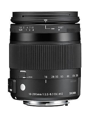 Sigma 18-200 mm F3,5-6,3 DC Makro OS HSM [C] Objektiv für Nikon