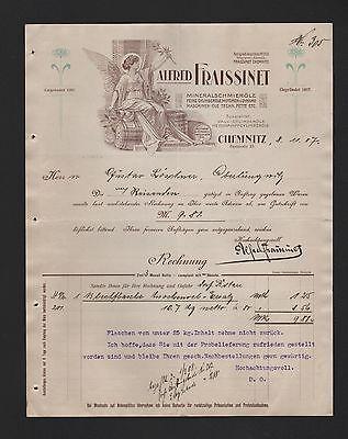 CHEMNITZ, Rechnung 1907, Alfred Fraissinet Mineral-Schmier-Öle