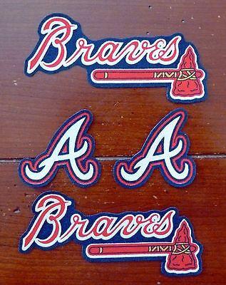 Atlanta Braves Applique - Iron On Sew On Transfer Applique Atlanta Braves Handmade Cotton Patches