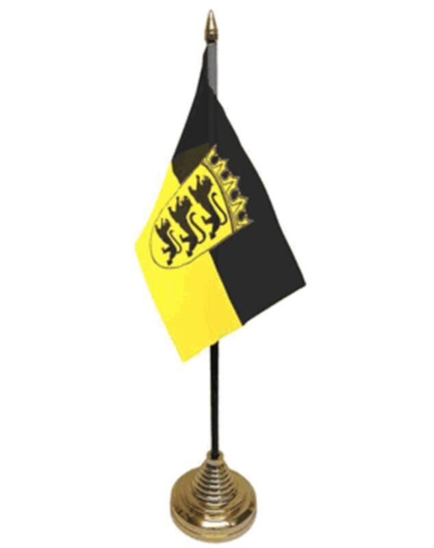 """Baden-Württemberg DESKTOP TABLE FLAG 6""""X4"""" 15cm x 10cm flags STUTTGART GERMANY"""