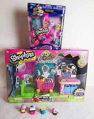 Shopkins Lot Bundle Rare Small Mart Play Set Shopping Random 5 Pack and More
