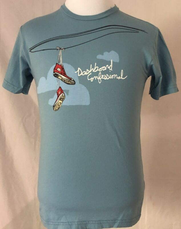Dashboard Confessional 2006 Dusk To Summer Tour Blue Shirt Size Small