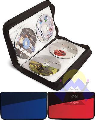 CUSTODIA Porta CD Dvd AUTO Zip 48 POSTI Macchina CASA Raccoglitore LAMPO Dischi